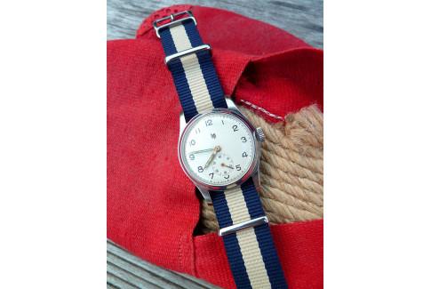 Bracelet nylon NATO Bleu Navy Sable