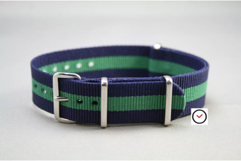 Bracelet nylon NATO Bleu Navy Vert
