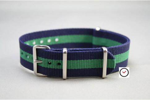 Navy Blue Green G10 NATO strap (nylon)