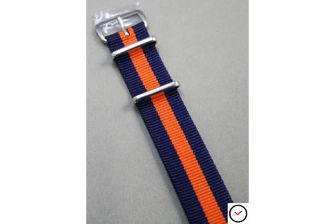 Bracelet nylon NATO Bleu Navy Orange