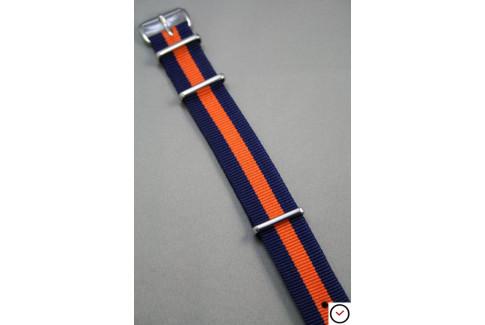 Navy Blue Orange G10 NATO strap (nylon)