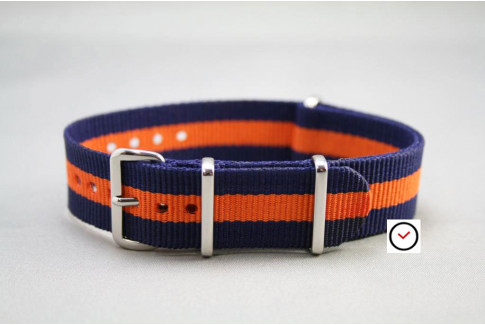 Navy Blue Orange G10 NATO strap (nylon)