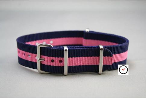 Navy Blue Pink G10 NATO strap (nylon)