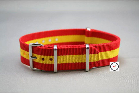 Red Yellow G10 NATO strap (nylon)