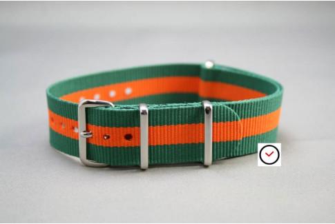 Bracelet nylon NATO Vert Orange