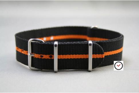 Black Orange G10 NATO strap (nylon)