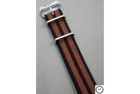Black Grey Red James Bond G10 NATO strap (nylon)