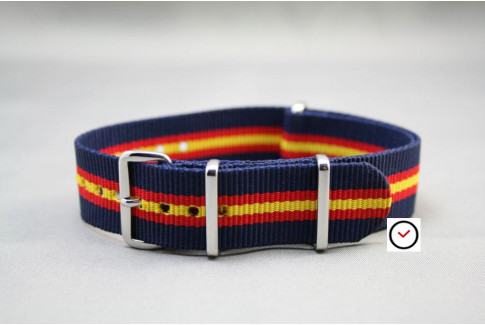 Blue Red Yellow Heritage G10 NATO strap (nylon)