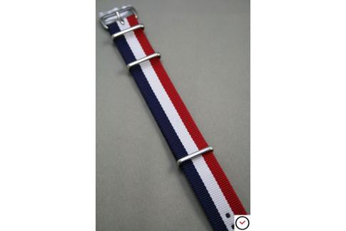 Bracelet nylon NATO Tricolore Bleu Blanc Rouge