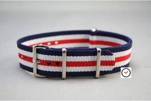 Double Blue White Red G10 NATO strap (nylon)