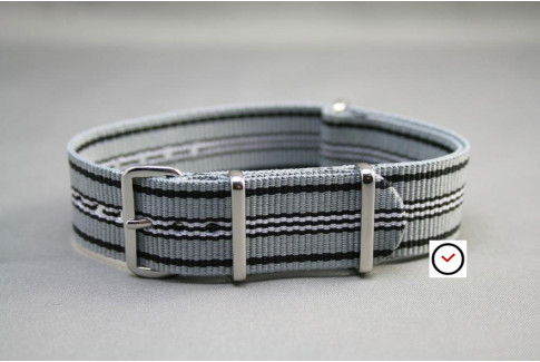 Grey Black White G10 NATO strap (nylon)