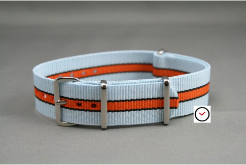 Gulf / Le Mans NATO watch strap (Blue Orange Black)