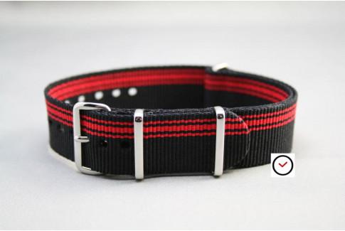 Black Red Ducati G10 NATO strap (nylon)