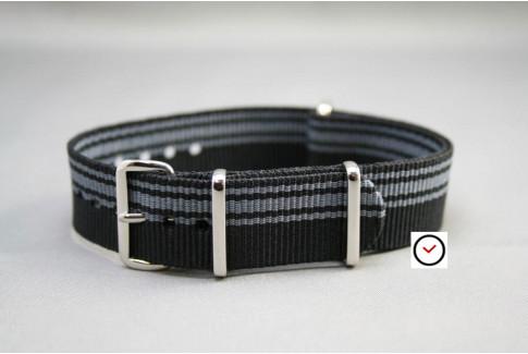 Bracelet nylon NATO Ducati Noir Gris