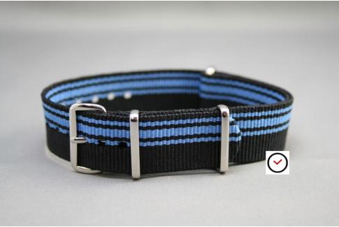 Bracelet nylon NATO Ducati Noir Bleu