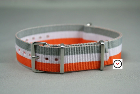 Orange White Grey G10 NATO strap (nylon)