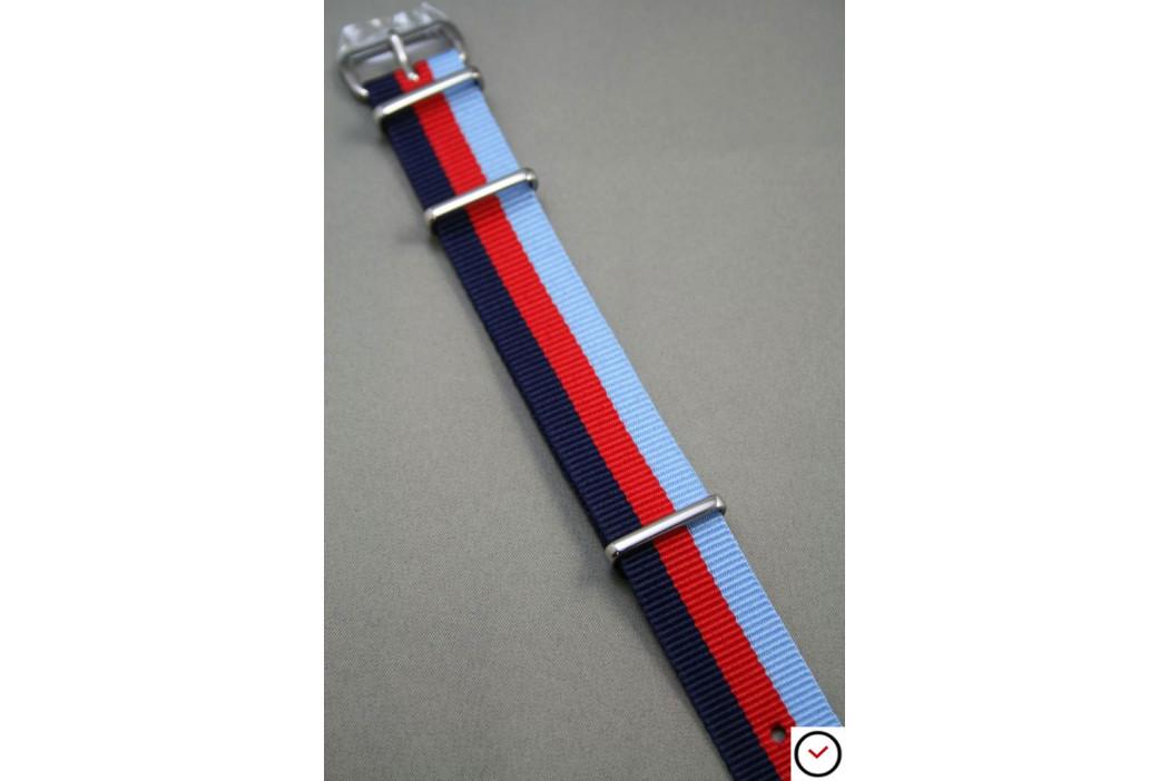 Bracelet nylon NATO 2 Bleus Rouge