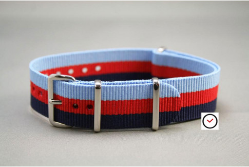 2 Blue Red G10 NATO strap (nylon)