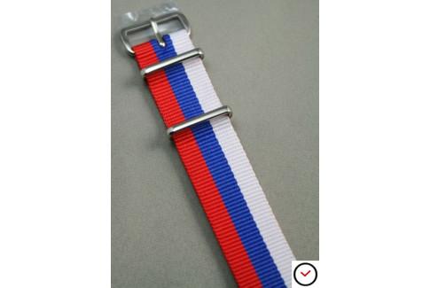 Bracelet nylon NATO Rouge Bleu Blanc
