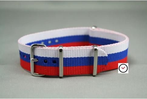 Red Blue White G10 NATO strap (nylon)