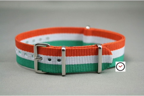 Green White Orange G10 NATO strap (nylon)