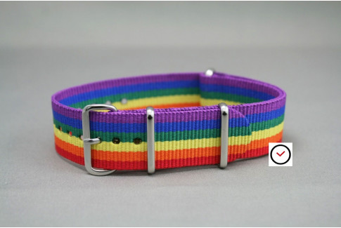Rainbow G10 NATO watch strap (nylon)