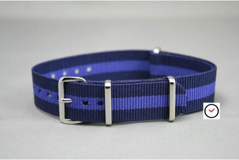 Bracelet nylon NATO Bleu Navy Violet