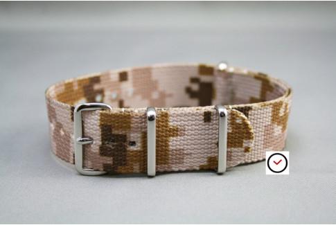 Bracelet nylon NATO Camouflage Désert