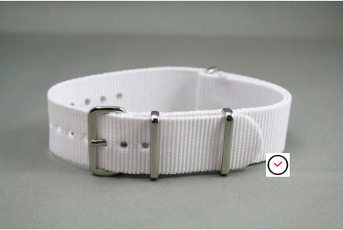 Bracelet nylon NATO Blanc