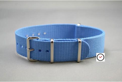 Bracelet nylon NATO Bleu Ciel