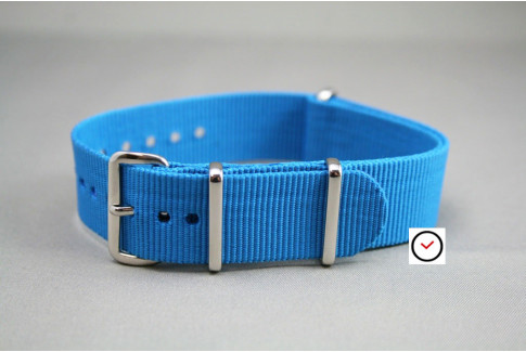 Carribean Blue G10 NATO strap (nylon)