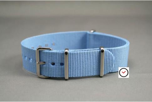 Bracelet nylon NATO Bleu Clair