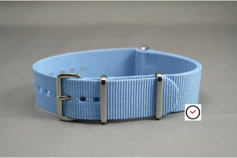 Light Blue G10 NATO watch strap (nylon)