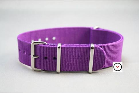 Violet G10 NATO strap (nylon)