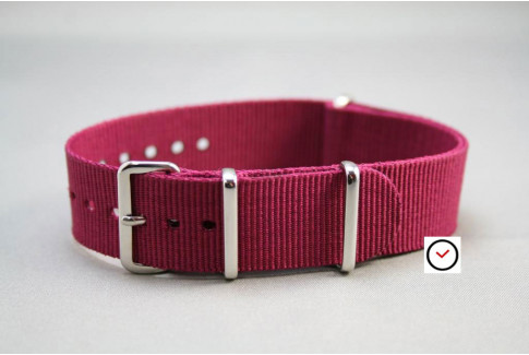 Plum colored G10 NATO strap (nylon)