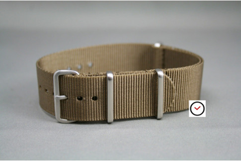 Bronze Brown G10 NATO strap, brushed buckle and loops