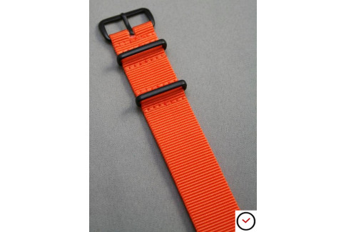 Orange G10 NATO strap, PVD buckle and loops (black)