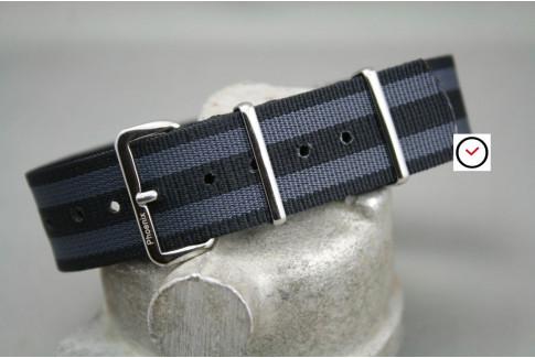 Bracelet montre NATO Phoenix James Bond (Craig - Noir Gris)