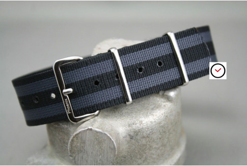 James Bond Phoenix NATO watch strap (Craig - Black Grey)