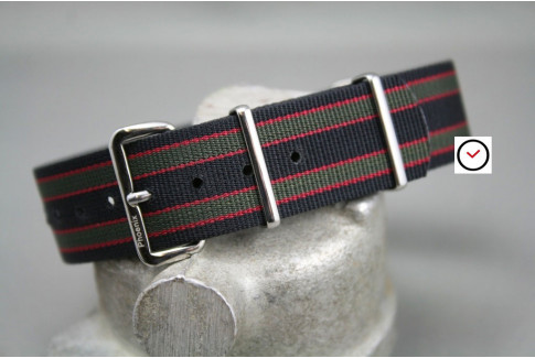 Original James Bond Phoenix NATO strap (Regimental - Black Green Red)