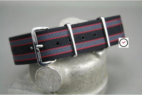 Bracelet montre NATO Phoenix Noir Gris Rouge