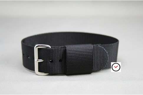 Black US Military nylon watch strap