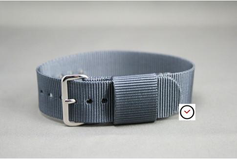 Grey US Military nylon watch strap
