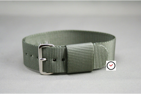 Green Grey US Military nylon watch strap