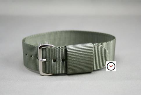 Green Grey US Military nylon watch strap