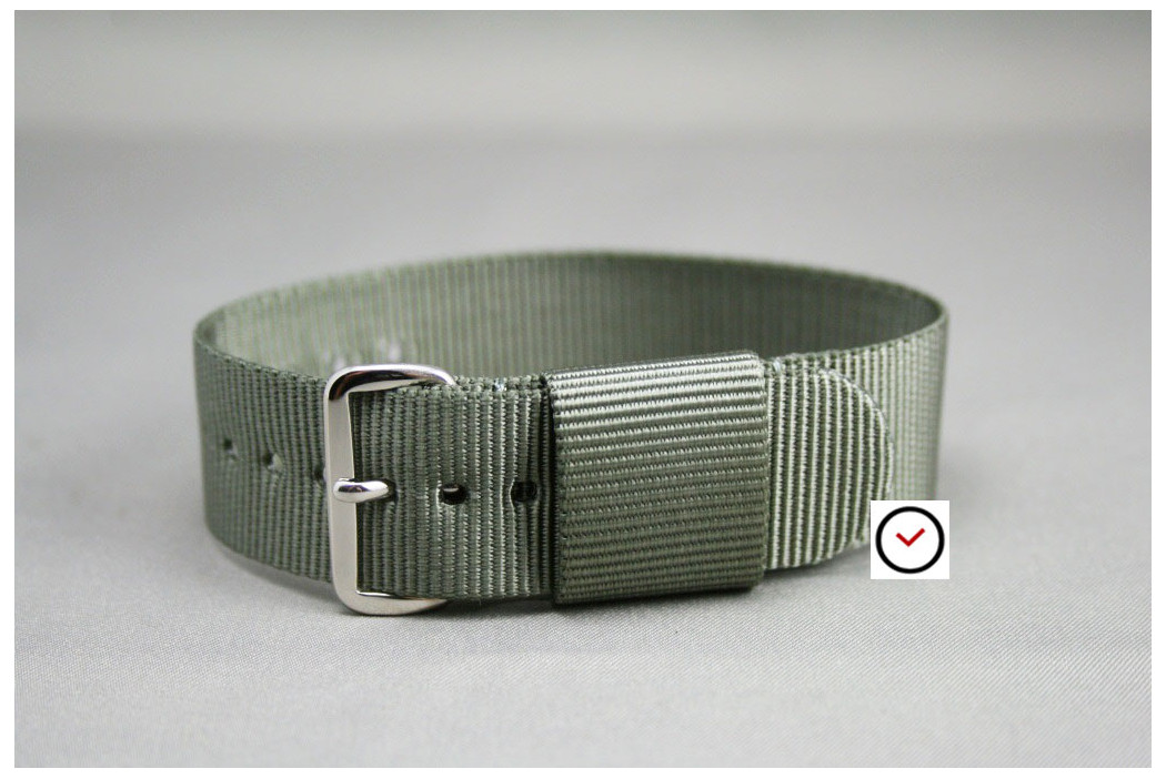 Bracelet nylon US Military Gris Vert