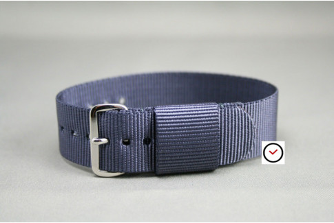 Bracelet nylon US Military Gris Bleu
