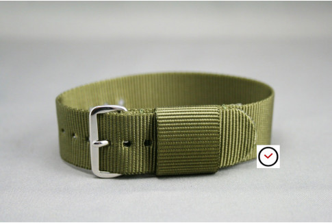 Olive Green US Military nylon watch strap