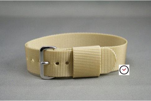 Sandy Beige US Military nylon watch strap