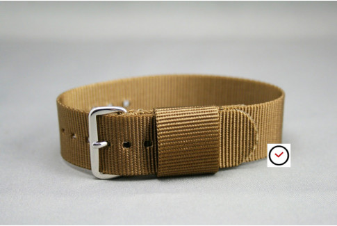 Bracelet nylon US Military Marron Or